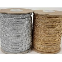 4mm Metallic Flat Elastic