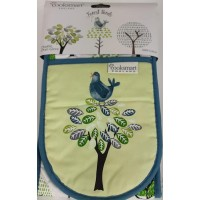 Forest Birds Double Oven Gloves