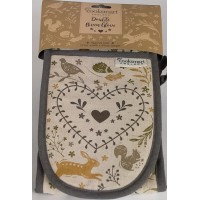 Woodland Double Oven Gloves