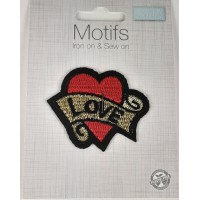 Iron or sew on Motifs-Love Heart