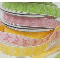 15mm Colourful Butterfly Printed Ribbon