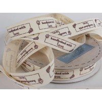 Baking Ribbon: 15mm: Hand Baked with Love