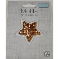 Iron or sew on Motifs- Sequin Stars