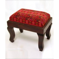 Embroidered Footstool