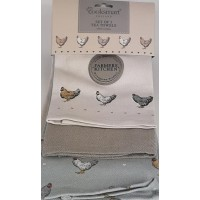 Farmers Kitchen Set of 3 100% Cotton Tea Towels