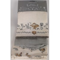 Country Animals 3 Pack Tea Towels