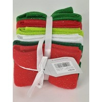 Felt Bundle: Acrylic: 23 x 30cm: Christmas Glitter: 6 Pieces: Assorted