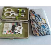 Grey Sewing Kit Purse Notions Design
