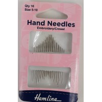 Hand Needles -Embroidery/Crewel Size 5-10