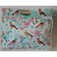 Craft Bag with Wooden Handles: Birdsong